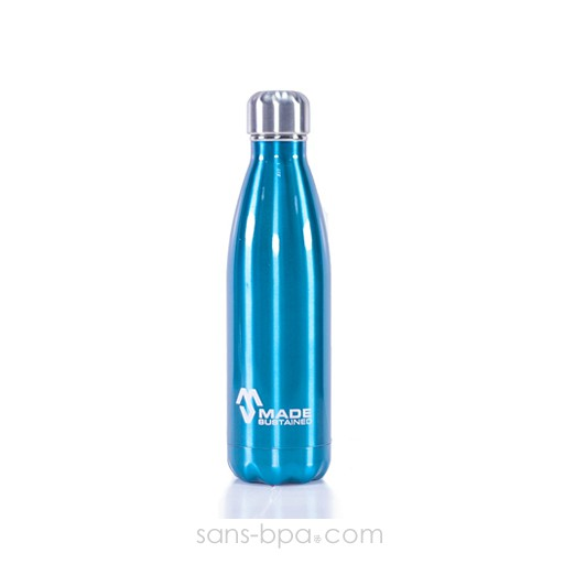 Cabosse - Bouteille isotherme 100% inox 500ml AZUR - MADESUSTAINED