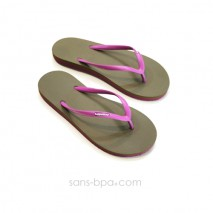 Tongs naturelles Light Brown Violet