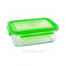 Contenant verre Meal Tube 1090 ml - Green