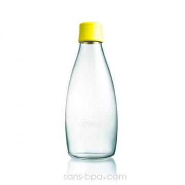 Gourde verre 800 ml - CITRON