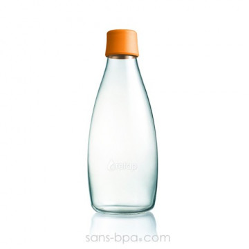 Gourde verre 800 ml CITRON
