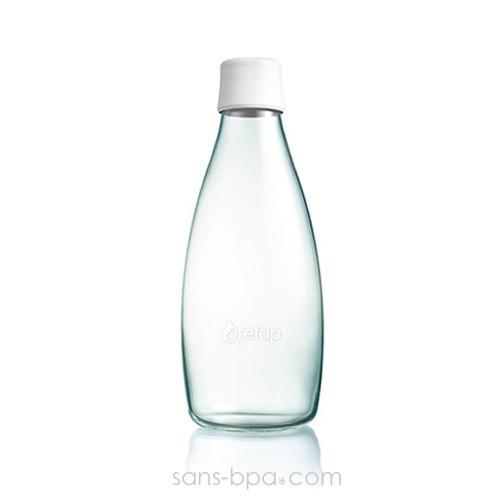 Gourde verre 800 ml ORANGE