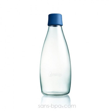 Gourde verre 800 ml - DARK BLUE