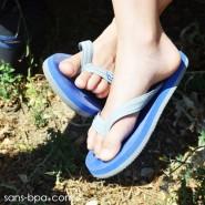 Tongs naturelles Kids - BLUE GREY