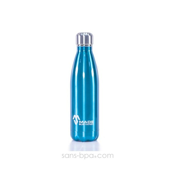 Bouteille isotherme 100% inox 500ml NOIRE - Made Sustained