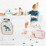 Cartable maternelle lin enduit Moineaux