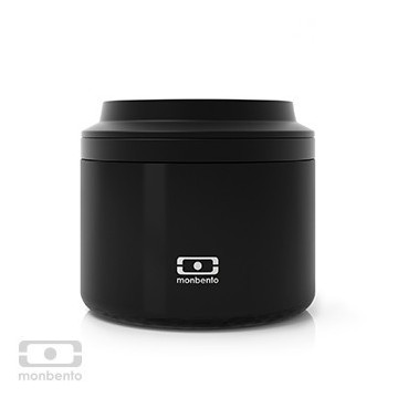 Boite repas inox isotherme 650 ml - Noir