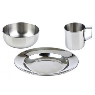 Ensemble vaisselle inox 3 pièces