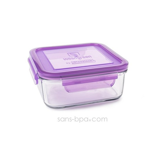 Contenant verre Meal Cube 900ml - Green