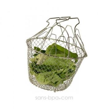 Panier à salade inox pliant