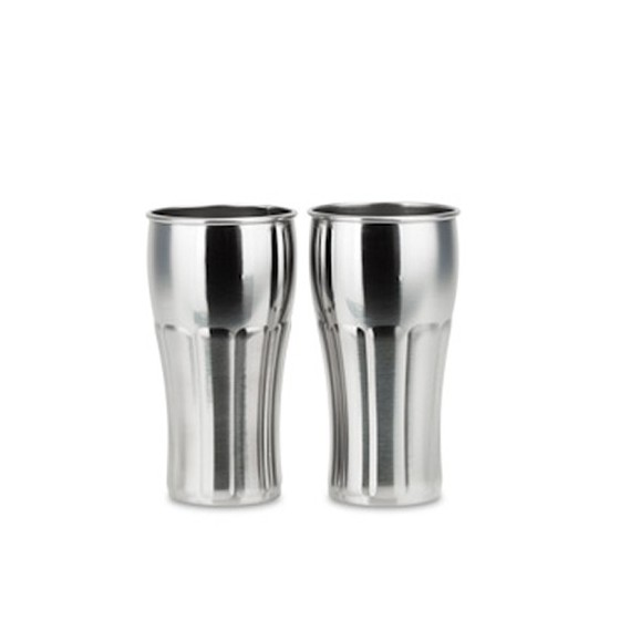 Lot 2 Verres inox SODA 375ml