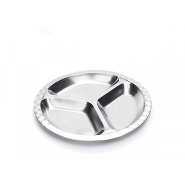Assiette à compartiments inox - GRAND