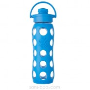 Bouteille verre 650ml FLIP - Turquoise