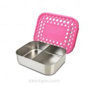 Boite compartiment 100% inox DUO PINK - DOTS