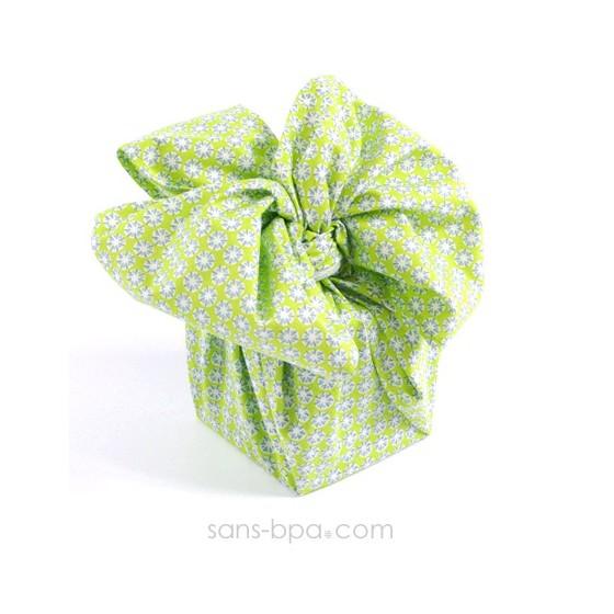 Furoshiki cadeau tissu Bio - Rose