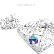 Furoshiki tissu cadeau à colorier Bio - Princesse