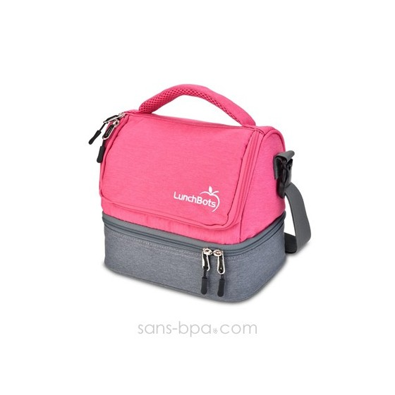 Sac isotherme - Gris / Rose