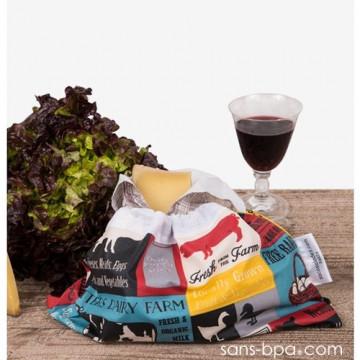 Sac à salades - Modèle Végan - GRAND