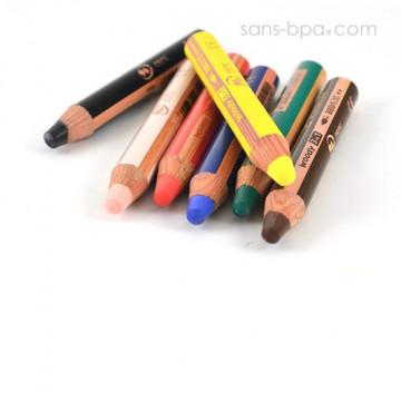 Crayon marqueur bois 3 en 1