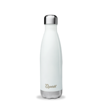 Bouteille isotherme inox BLANC BRILLANT 500ml