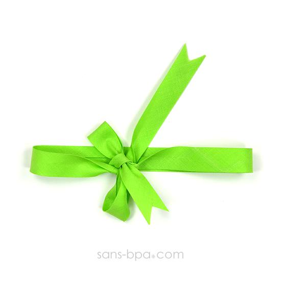 Ruban coton biais - Vert