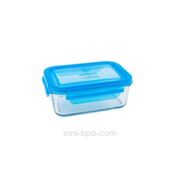 Contenant verre Lunch Tube 695 ml - Bleu