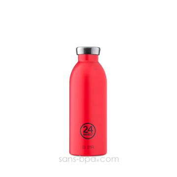 Bouteille inox isotherme 500ml CLIMA - Hot Red