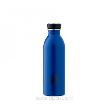 Gourde inox 500 ml URBAN - GOLD BLUE