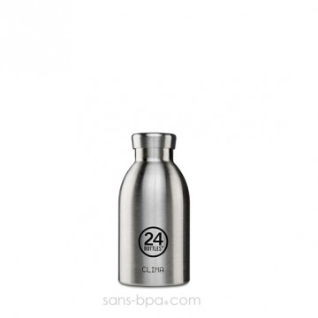 Bouteille inox isotherme 330ml CLIMA - Inox
