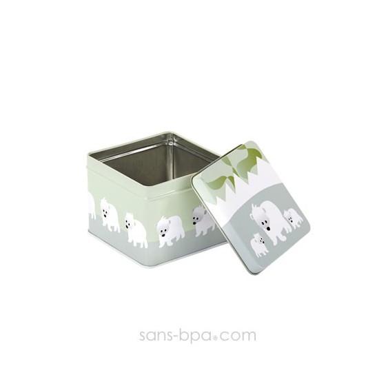 Boite cube métal OURSONS