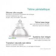 Biberon inox Goulot Large 265 ml - ROUGE - ORGANIC KIDZ