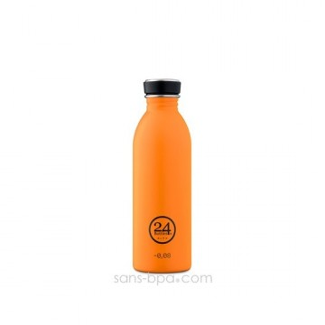Cabosse - Gourde inox 1000 ml URBAN ORANGE - 24 Bottles
