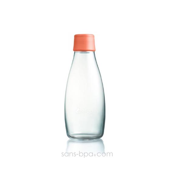 Gourde verre 500 ml - PINK FLUO