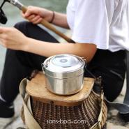 Boite repas isotherme 100% inox - 850 ml