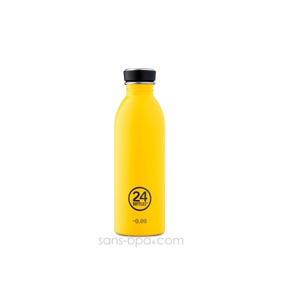 Cabosse - Gourde inox 500 ml URBAN - YELLOW - 24 Bottles