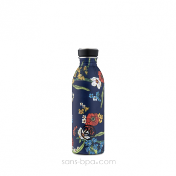 Gourde inox 500 ml URBAN - DENIM BOUQUET