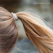 5 élastiques à cheveux BIO zéro plastique - Acidulés