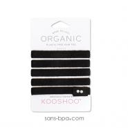 5 élastiques à cheveux BIO zéro plastique - Noir