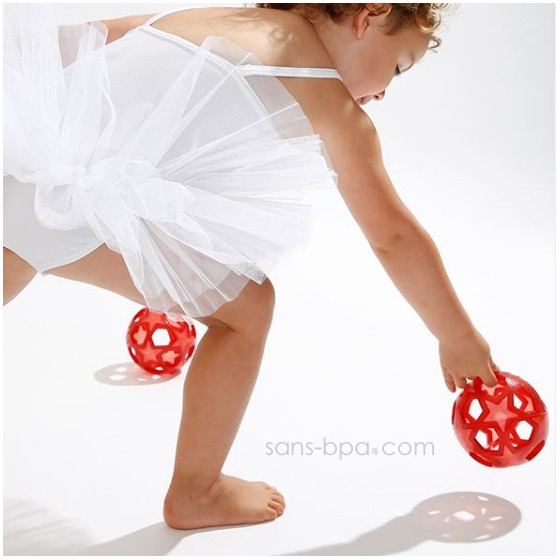 Balle caoutchouc Star Ball Cerise - Hévéa