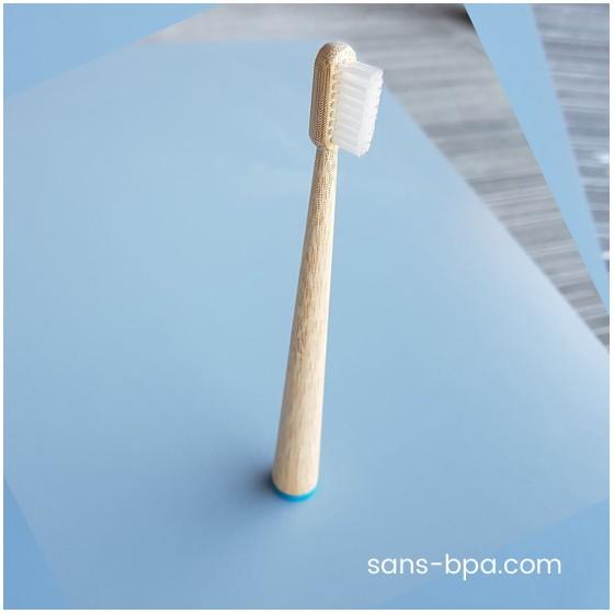 Brosse à dents bambou - CONICOLOR - Bleu