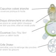 Tasse polyvalente - POISSONS ORANGE - 250 ml - Innobaby