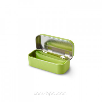Paille nomade Smoothie - silicone LIME