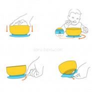 Assiette bambou à ventouse & sa cuillère bébé