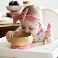 Cuillère pour bébé Bambou & silicone
