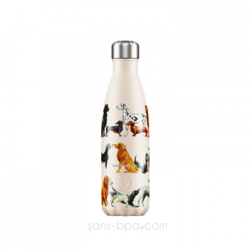 Bouteille isotherme inox 500ml - DOGS