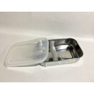Cabosse - Boite rectangle compartiment amovible - Cristal - U-Konserve