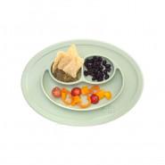 Assiette antidérapante Mini Mat - Gris clair