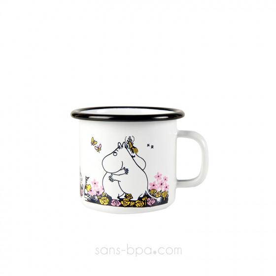Timbale fer émaillé - Moomin Blanc