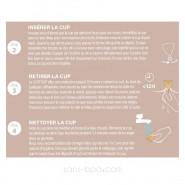 Coupe menstruelle caoutchouc naturel . Flux léger . Loop Cup Hévéa