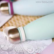 Bouchon inox avec attache pour bouteille 260ml/500ml - QWETCH